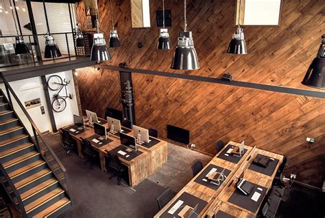 wooden office design inside the workspace of ubiquitous d verro