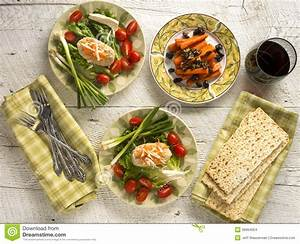 Traditional Jewish Passover Dishes Of Gefilte Fish And ...