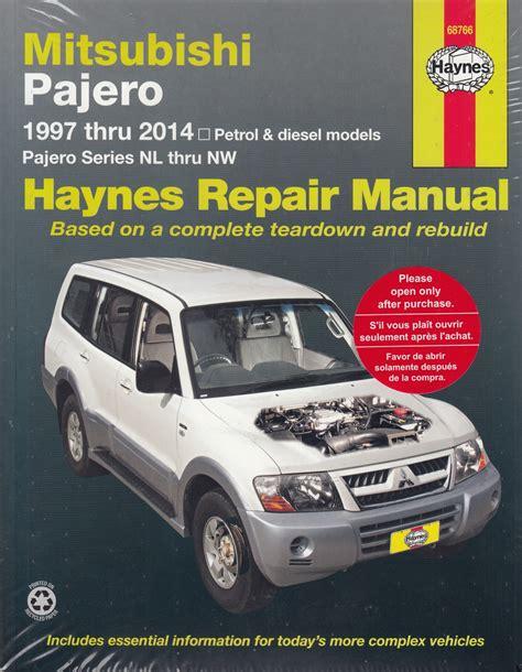 book repair manual 1985 mitsubishi pajero regenerative braking mitsubishi pajero nl nm np ns nt petrol diesel 1997 2009 workshop manual