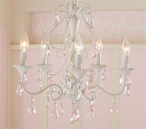 pink alyssa chandelier pottery barn