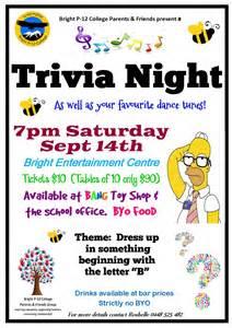 Trivia Night Fundraiser Flyer