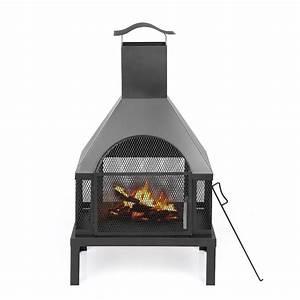Cheminée Barbecue Exterieur : ikayaa po le d ext rieur en fer foyer bois grande chemin e de jardin ~ Preciouscoupons.com Idées de Décoration