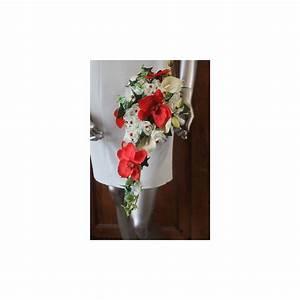 Bouquet De La Mariée : bouquet de fleurs mariee cascade th me arums et orchid es ~ Melissatoandfro.com Idées de Décoration