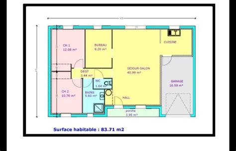 plan maison plain pied 2 chambres plan maison plain pied 2 chambres garage