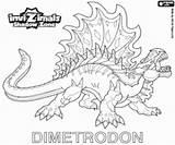 Invizimals Dimetrodon Coloring Shadow Zone sketch template
