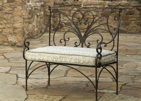 iron garden bench traditional outdoor benches