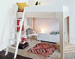 Lit Mezzanine Ado : un lit mezzanine pour gagner de la place joli place ~ Teatrodelosmanantiales.com Idées de Décoration