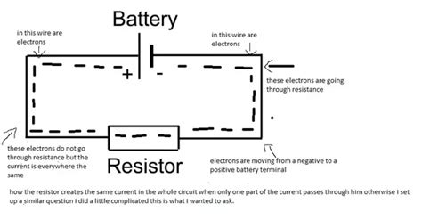How Does Resistor Exactly Reduce Current Flow Circuit