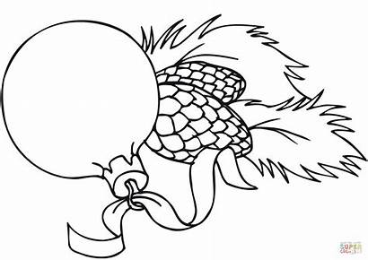 Christmas Decorations Drawing Coloring Ornaments Pages Printable