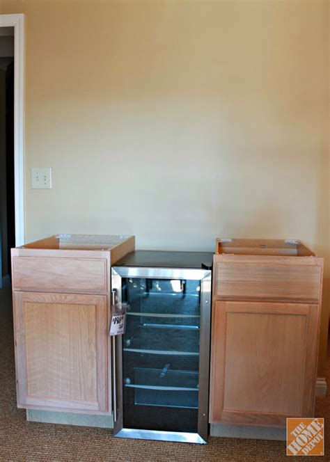 Cabinet Beverage Cooler by Diy Beverage Station The Home Depot Base Cabinets