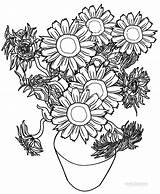 Sunflower Coloring Pages Sunflowers Adults Printable Van Gogh Cool2bkids Colors Getcolorings Whitesbelfast Getdrawings sketch template