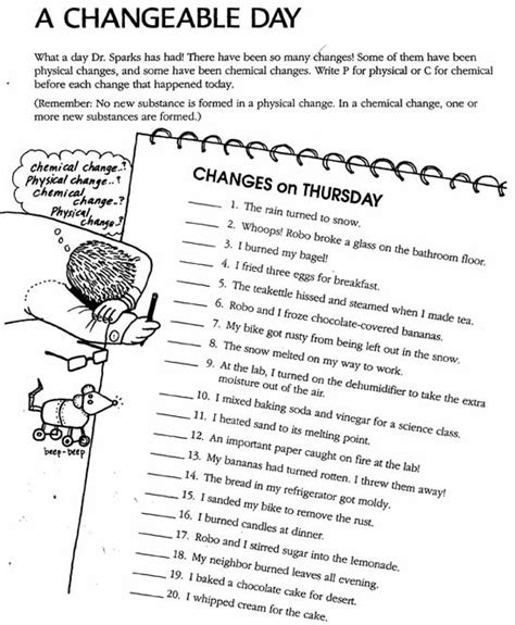 13 of phase change worksheet middle school