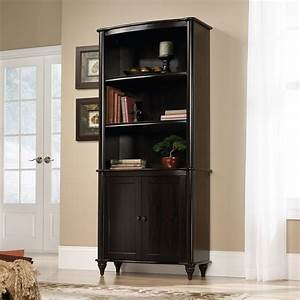 Sauder, New, Albany, Library, Bookcase, With, Doors