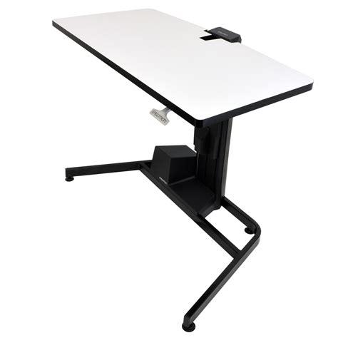 bureau position debout ergotron workfit d sit stand desk bras pied ergotron