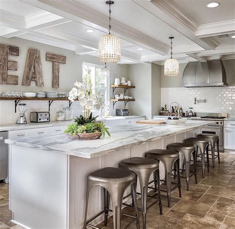 pretty white kitchen  tile floor kitchens designed