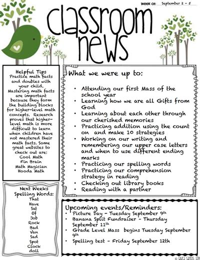 free classroom newsletter templates classroom newsletter template create edit fill and print wondershare pdfelement