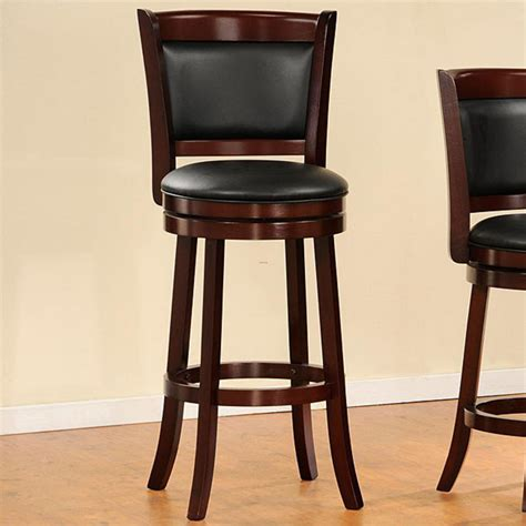 Cushioned Bar Stools With Backs by Verona Cherry Padded Back Swivel 29 Inches Pub Chair
