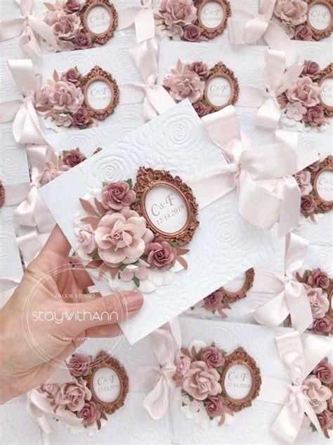 Wedding Invitations Unique Elegant Romantic Luxury Dusty