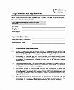 How to make an apprenticeship contract agreement free for Apprenticeship contract template