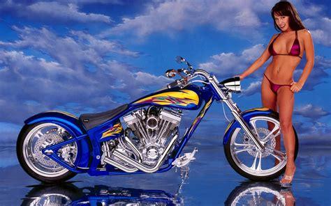 Sexy Women Harley Davidson Background