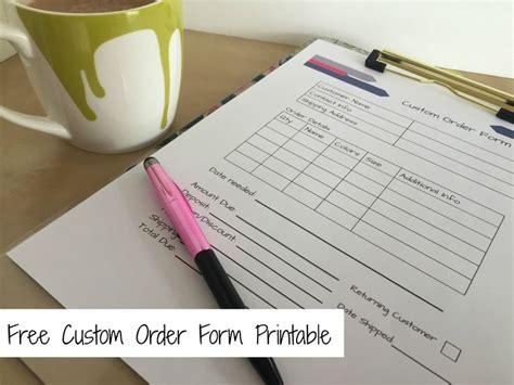 printables order form template order form templates