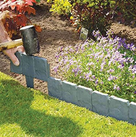 Gartenumrandung Aus Stein by 20 40x Lakeland Cobbled Effect Garden Edging Plastic