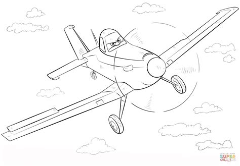 Dusty Crophopper Coloring Page Free Printable Coloring Pages