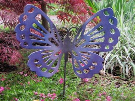 Decorative Metal Garden Stakes, Metal Butterfly Outdoor
