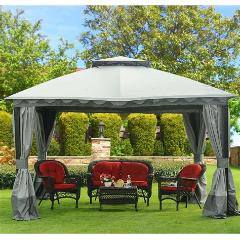 sunjoy gazebo sunjoy marine domed top 10 x 12 gazebo outdoor living gazebos canopies pergolas gazebos