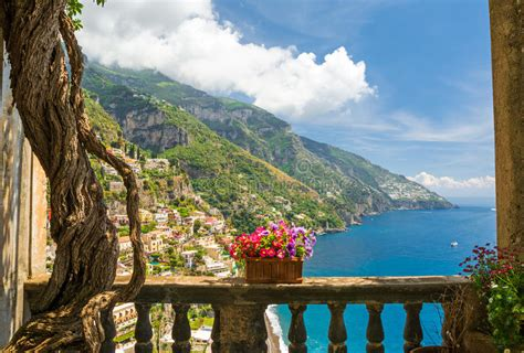 Beautiful View Of The Town Of Positano From Antique