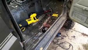 89 cherokee mig welding diy passenger floor pan patch With welding floor pans