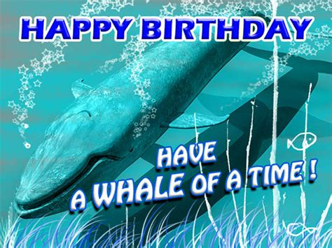 whale   birthday   kids ecards greeting