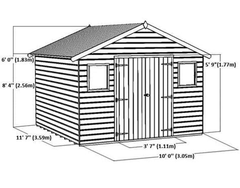 Shiplap Or Tongue And Groove Shed - 12 x 10 shiplap tongue and groove workshop shed