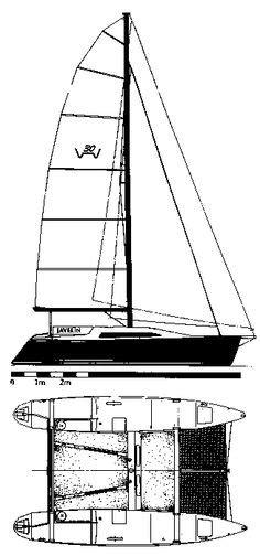 Catamaran Drawing by Hobie 14 Drawing On Sailboatdata Hobie Cat