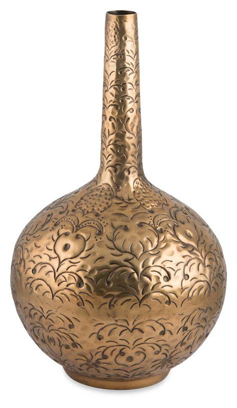 Neck Vases - new aluminium embossed neck vase