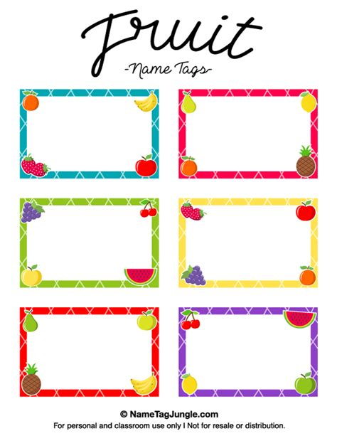 printable fruit name tags