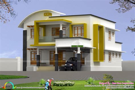 Home Design 4 Bhk : 2282 Square Feet Modern 4 Bhk Home