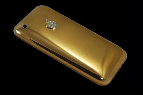 gold plated apple iphone 5 goes on