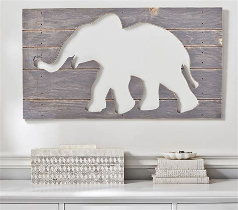 pottery barn baby wall decor elephant neutral nursery inspiration if i ran the
