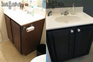 Before and after 1st floor bathroom what the vita for Painted vanities bathrooms
