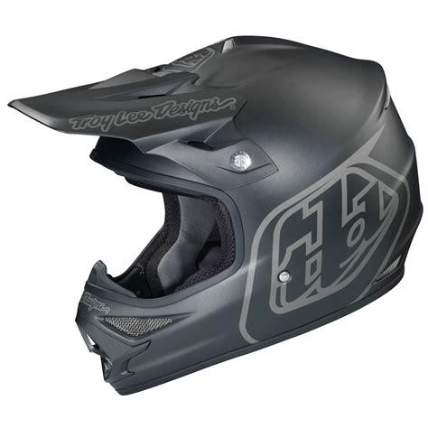 flat black motocross helmet troy lee designs new tld mx air midnight matte black