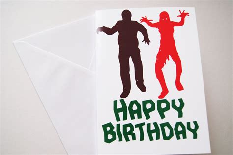 happy birthday zombie  card monster