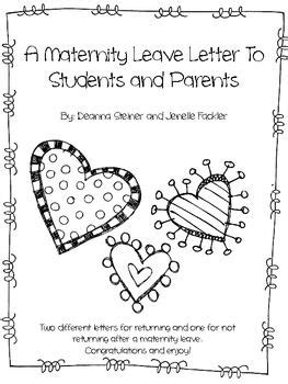 editable maternity leave letter maternity stuff