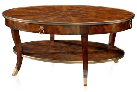mahogany cocktail table a mahogany oval cocktail table coffee tables from brights 3946