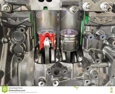 Diesel Engine Piston Cross Section . Stock Photo