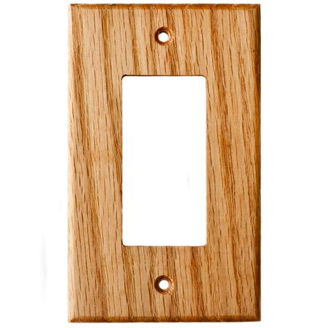 oak outlet covers oak wood wall plates 1 gang gfci outlet cover