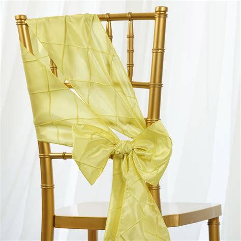 75 x pintuck taffeta chair sashes ties bows wedding