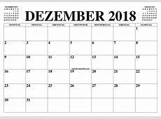 KALENDER DEZEMBER 2018 DEZEMBER 2018 2019 2019
