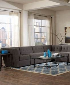 roxanne fabric 6 piece modular sectional sofa with chaise With roxanne 2 piece sectional sofa
