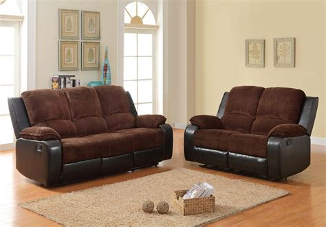 corduroy sofa and loveseat homelegance bunker reclining sofa set chocolate